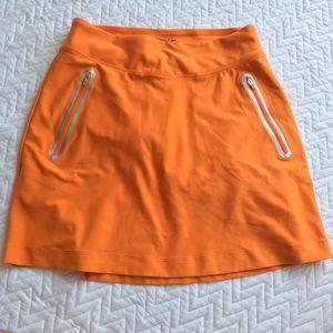 Nike Golf Tour Performance Dri Fit Skirt Orange